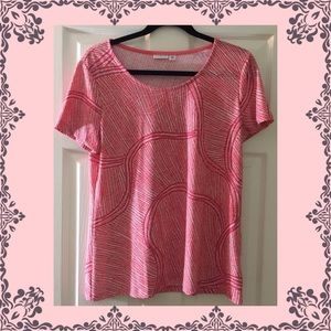 Bright Chic Short Sleeve Top Lightweight Coral
